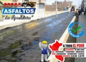 Nueva presentacion de asfalto en frio x saco y m³