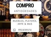 Compro antigüedades, colecciones, muebles y mas