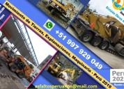 Maquinarias, movimiento de tierras, demoliciones p