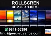 Roll screen  2x1 mt
