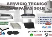 Servicio tecnico campanas extractoras sole 0144761