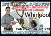 Soporte tecnico whirlpool–lavadoras y secadoras