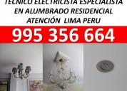 Instalacion de luminarias 995 356 664 electricista
