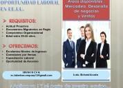Se solicita ejecutivos para vacantes