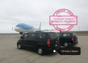 Transporte turistico alquiler de van