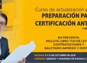 Curso de preparaciÓn para  certificaciÓn ante osce