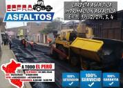 Servicio carpeta asfaltica e imprimacion