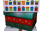 Cajas navideÑas de carton 2019