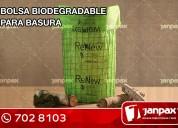 bolsas de biodegradables - janpax