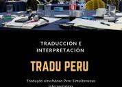 Alquiler traduccion simultanea perú - equipos