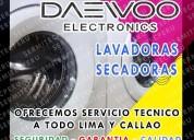 Servicio con garantia  lavadoras daewoo  7378107