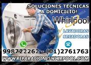 Centro de servicio lavadoras y secadoras whirlpool