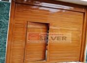 Puerta seccional   en plancha galvanizada silver
