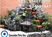 Cascada artificial, fuente de agua