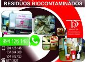 Recojo de residuos clÍnica cel:994126148 lima