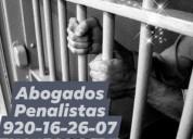 Abogados penalistas 24 horas llamenos 920162607