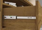 Tocador flavia con espejo y panel de tv de 32 pulg
