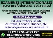 Medicos examenes internacionales