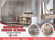 Instalación de mampara de vidrio - duchas de baño