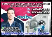 Soluciones mabe reparación de lavadoras y secadora