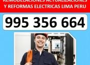 Contratistas electricos en lima  995-356-664