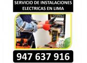 Servicio de electricista residencial lima emergenc