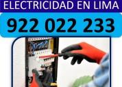 Servicio tecnico de electricidad en lima peru-24 h
