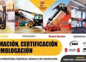 Certificacion de operadores de grua y montacargas
