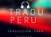 Traductor, auriculares, equipos, traducciÓn lima