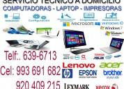 Servicio tÉcnico de computadoras 993691682