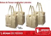 bolsas ecologicas tocuyo con fuelle lateral
