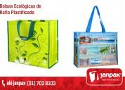 bolsas ecologicas rafia plastificada