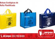 bolsas ecologicas rafia plastificada con con logo