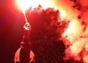 Venta de tubos humos de colores bengalas luces animar eventos