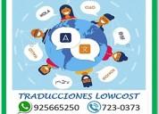 TRADUCCIONES LOWCOST WHATSAPP 925665250