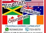 Traducciones para empresas y particulares