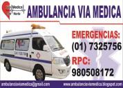 Servicio de ambulancias, traslado de pacientes