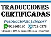 Traducciones certificadas 925665250