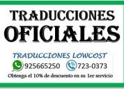 Traducciones oficiales 925665250