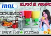 Refresqueras ibbl –bbs – envios a provincias