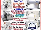 Servicio tecnico de reparacion y mantenimiento de maquinas para coser