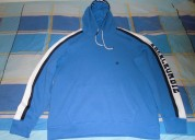 Casaca abercrombie & fitch con capucha,azul