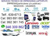 ReparaciÓn pcs laptops 946309862 miraflores, surco