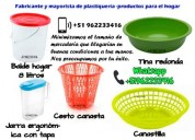 Vendo productos plásticos para el hogar