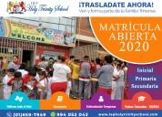 Iep holy trinity school – matrícula abierta 2020