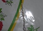 Rosario con crucifico plateado de 65 cm de largo