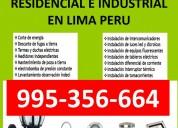 Fugas electricas lima - servicios lima - peru 24 h