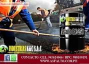 Servicio de carpeta asfaltica e imprimacion