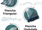 Planchas acanaladas - producto de  sostenimiento