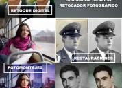 Diseñador gráfico retocador fotográfico
